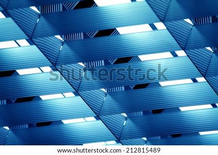 Chandelier of fluorescent lamp - stock photo