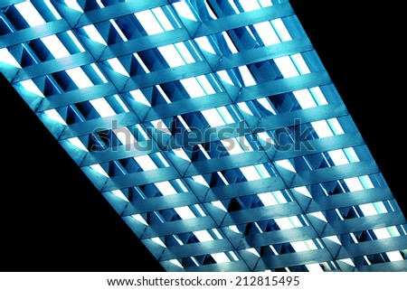 Chandelier of fluorescent lamp - stock photo