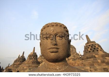 Chandi Borobudur, Mahayana Buddhist Temple in Magelang, Central Java, Indonesia.  - stock photo