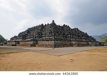 Chandi Borobudur, The World Heritage in Yogyakarta, Indonesia. - stock photo