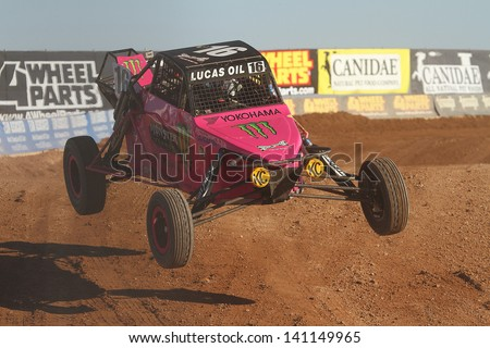 CHANDLER, AZ - OCT 26: Cameron Steele (16) at speed in Pro Buggy Lucas Oil Off Road Series racing during a qualifying session on October 26, 2012 at Firebird International Raceway in Chandler, AZ. - stock photo