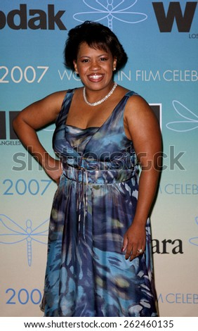 Chandra Wilson attends Women In Film Presents The 2007 Crystal and Lucy Awards held at the Beverly Hilton Hotel in Beverly Hills, California, California, on June 14, 2006.  - stock photo