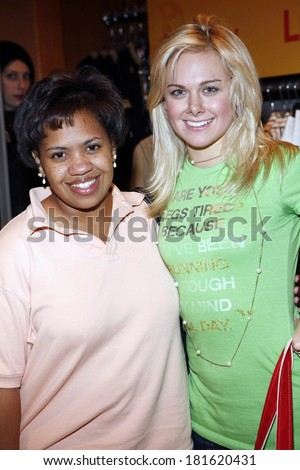 Chandra Wilson, Laura Bell Bundy inside for LUCKY Club Gift Lounge for the 2007-2008 TV Network Upfronts Previews, The Ritz Carlton Hotel, New York, May 14, 2007