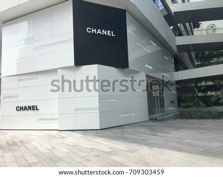 Chanel boutique store front at the Emquartier department store  Bangkok Thailand  3 September 2017