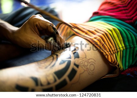 Body modification stock images royalty free images for Bangkok tattoo prices