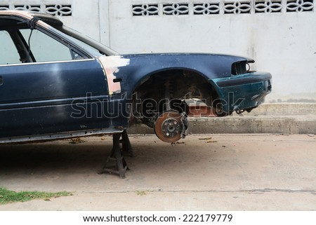 change a car wheel missing
