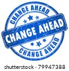 Change ahead stamp - stock photo