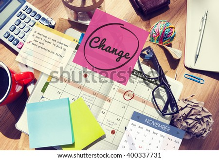Change Appointment Event Schedule Concept - stock photo