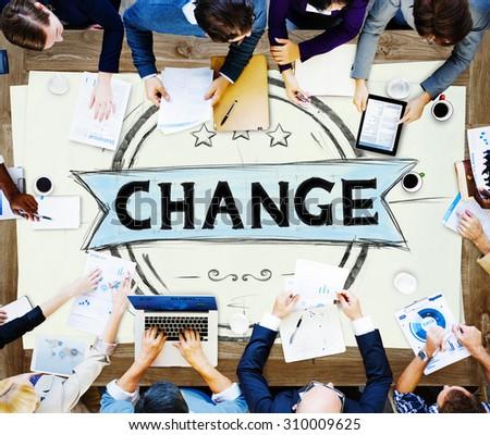 Change Development Improvement Revolution New Concept - stock photo
