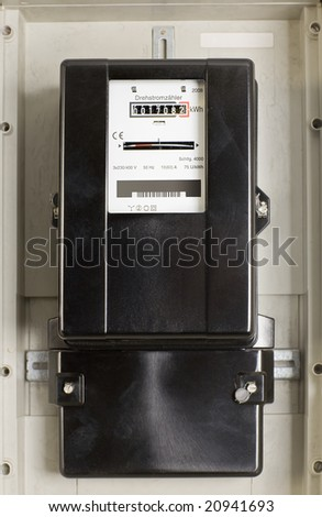 Change electricity meter in the cellar - stock photo