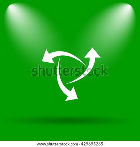 Change icon. Internet button on green background.