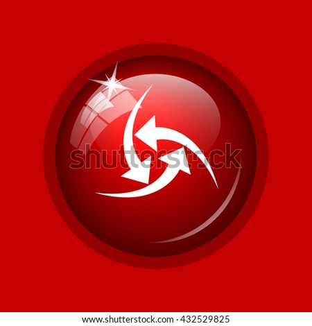 Change icon. Internet button on red background.