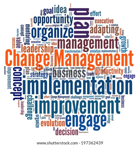 Change Management in word collage - stock photo