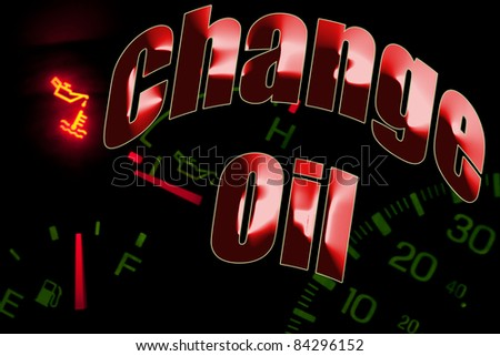 Change oil service engine light - stock photo