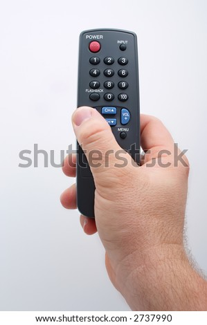 Change the channel - stock photo
