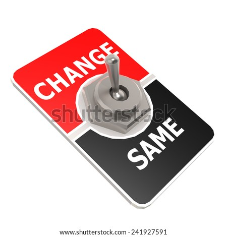 Change toggle switch image with hi-res rendered artwork that could be used for any graphic design.