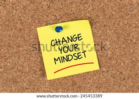 Change Your Mindset written on a Sticky Note - stock photo