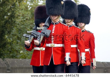Changing of the guards (England) - stock photo