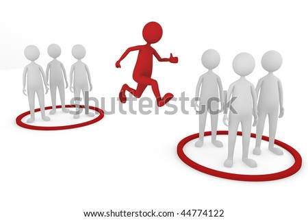 Changing Teams. 3D concept depicting changing teams, great for either business or general ideas - stock photo