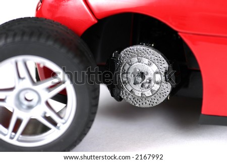Changing the car wheel - stock photo