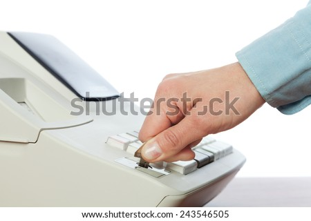 Changing the operating mode. - stock photo