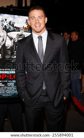 "Channing Tatum attends the Los Angeles Premiere of ""Stop-Loss"" held at the Directors Guild of America in Hollywood, California, United States on March 17, 2008."