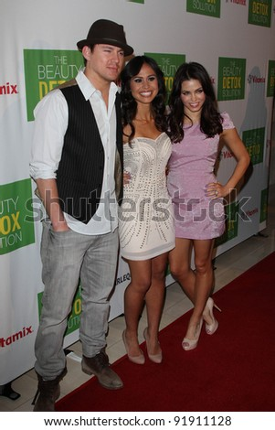 "Channing Tatum, Kimberly Snyder and Jenna Dewan-Tatum at ""The Beauty Detox Solution"" Book Launch Party, London, West Hollywood, CA. 04-13-11"