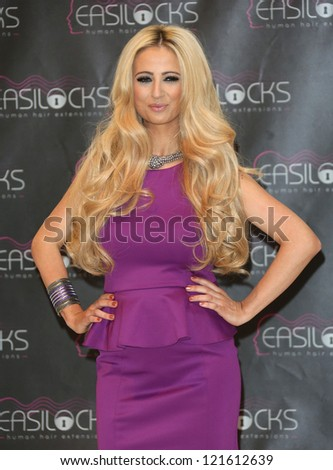Chantelle Houghton launches Easilocks extensions at the Worx Studios, London. 05/12/2012 Picture by: Henry Harris