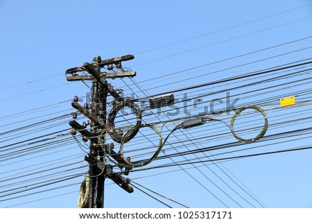 Messy Cables Pole Shutterstock