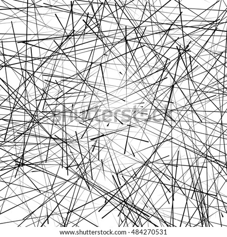 Chaotic irregular, random, scattered lines artistic geometric image