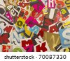 chaotic letters cut from magazines - stock photo