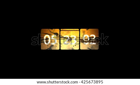 Chaotic moving clock. Infinitely fast moving clock. The concept of bending time and space. Grunge clock - stock photo