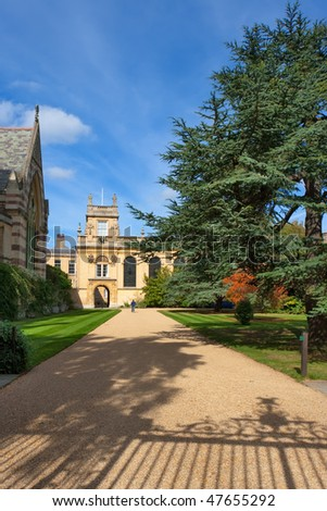 Chapel and old Gate Tower Trinity College. Oxford, UK - stock photo