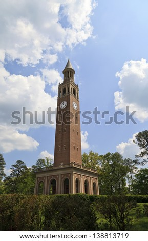 Chapel Hill Bell Tower in North Carolina - stock photo