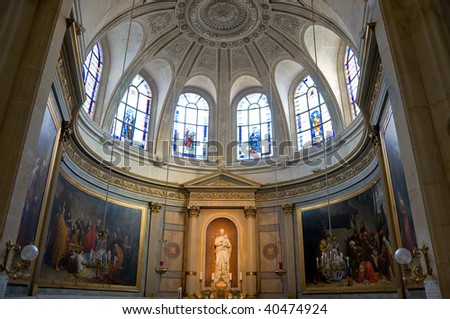 Chapel in Etienne cathedral of Paris, France - stock photo