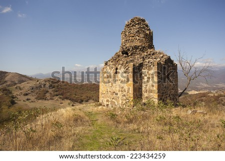 Chapel in kochoghot, Nagorno Karabakh - stock photo