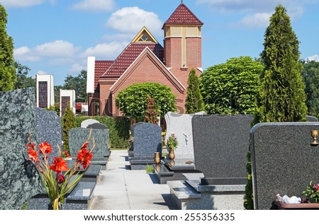 Chapel in the cemetery - stock photo