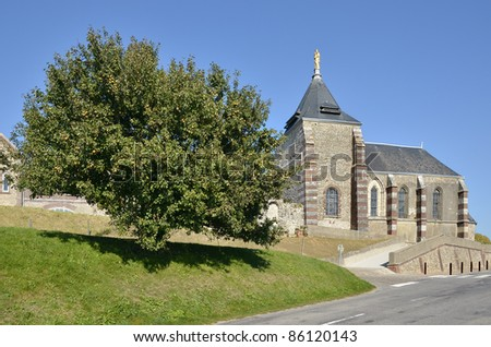 "Chapel ""Notre Dame du Salut"" and pear tree in Fécamp, commune in the Seine-Maritime department in the Haute-Normandie region in northwestern France"