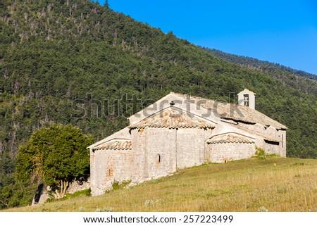 Chapel Notre-Dame near Vergons, Provence, France - stock photo