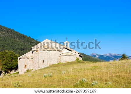 Chapel Notre-Dame near Vergons, Provence, France - stock photo