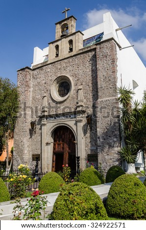 Chapel Of Indians (Antigua Parroquia de Indios) at Guadalupe, Mexico - stock photo