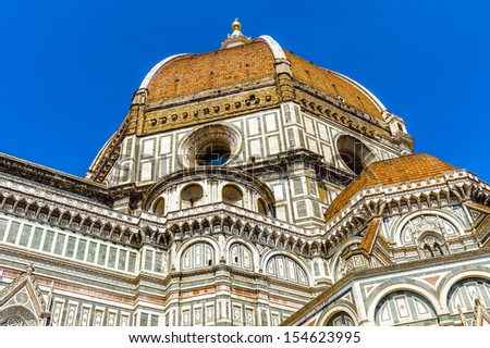 Chapel of the Basilica di Santa Maria del Fiore (Basilica of Saint Mary of the Flower), the main church of Florence, Italy. - stock photo