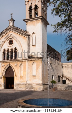 Chapel of the Carmen, Cuernavaca (Mexico) - stock photo