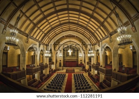 Chapel of the Detroit Masonic Temple - stock photo