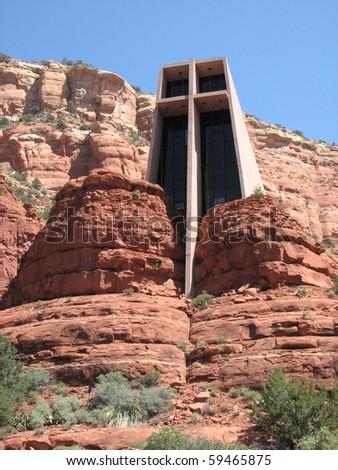 Chapel of the Holy Cross in Sedona, Arizona - stock photo