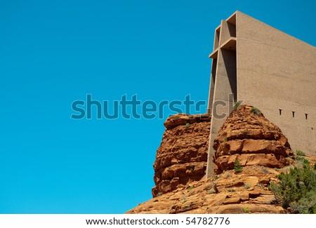 Chapel of the Holy Cross, in Sedona, AZ - stock photo