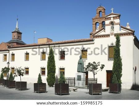 Chapel of Univercity and Monument of Cardinal de Cisneros in Alcala de Henares, Madrid - stock photo