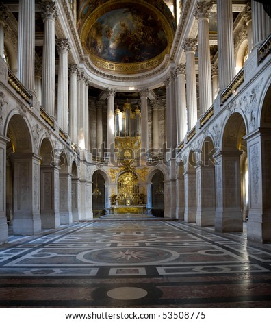 Chapel of Versailles Chateau. France