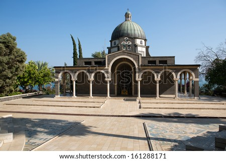 Chapel on the Mount of Beatitudes, Israel - stock photo