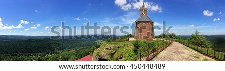Chapel on the Rock of Dabo, France - stock photo